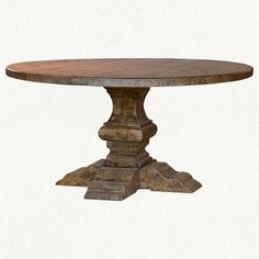 Round Pedestal Table in For Home Shop by Category Furniture Dining at Terrain - StyleSays Find Furniture, Dining Furniture, Industrial Furniture, Painted Furniture, Furniture Ideas, Round Dining Table, Dining Room Table, Table And Chairs, Round Tables
