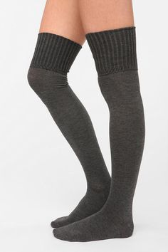 Ribbed Cuff Over-The-Knee Sock  #UrbanOutfitters