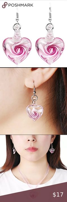 February Birthstone Clip on Earrings with Crystal Abstract Beauty Girl Face Emoji Dangle