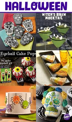 From spooky eats to haunted treats, you'll surely find inspiration for your Halloween party in the Wilton Halloween board with over 100 different party and entertaining ideas for food and drinks.