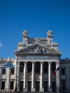 Facade of a Government Building, Palacio Legislativo, Montevideo, Uruguay Lámina fotográfica