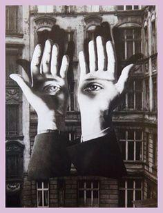 El collage de esta imagen me parece interesante porque unifica y configura una imagen sin necesidad de que aparezcan los demas rasgos del rostro de una persona. Raoul Hausmann