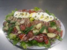 Nicoise Salad with Lemon-Dijon Vinaigrette.  Healthy, Low Fat, Low G.I, High Fiber, High Protein, Gluten-Free