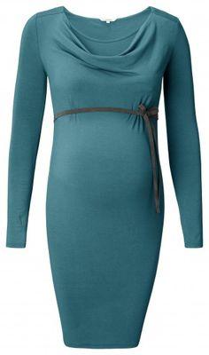 Ženska haljina dugih rukava za dojenje NOPPIES - zelena