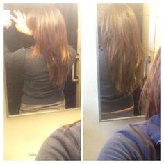 Before and after  Ultras hair pills They work!! One month growth no extensions and more fullness!