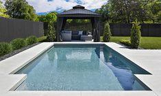 Outdoor Pool, Outdoor Spaces, Outdoor Living, Swimming Pool Landscaping, Pool Decks, San Juan Pools, Pool Water Features, Backyard Pool Designs, My Pool