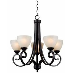 Hampton Bay Renae 5-Light Oil Rubbed Bronze Chandelier-HDP12053 at The Home Depot $149