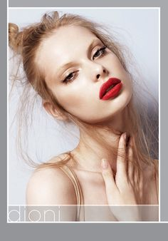 Bleached Brows Red Lip