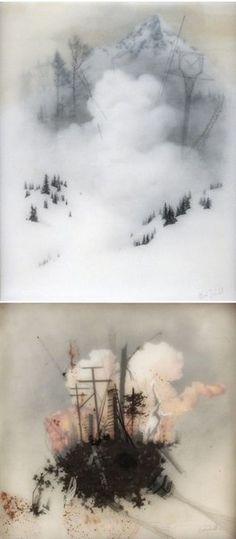 Academic Painting.  Brooks Shane Salzwedel. Работы, созданные с помощью карандашей, маркера и кальки.