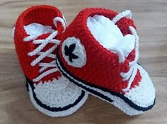 Crochet Baby Booties, Baby Sneakers, Converse Style Baby Booties