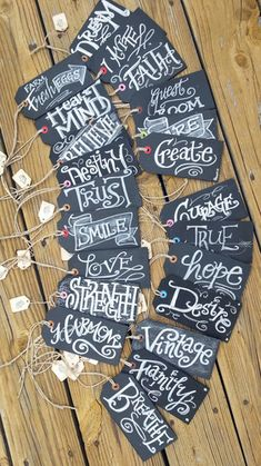 2 Chalkboard Message Tags you choose message, $5.00