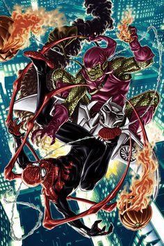 Superior Spider-Man Vs Green Goblin by Mark Brooks