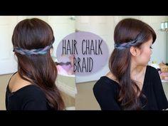 DIY: Rainbow Braid Hairstyle - Splat Hair Chalk Tutorial - YouTubeBraid Hairstyles, Braids, braids tutorial, braids for short hair, braids for short hair tutorial, braids for long hair, braids for long hair tutorials...