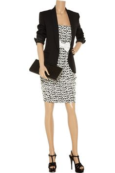 Carmen Marc Valvo Embellished appliqué woven dress - 55% Off Now at THE OUTNET