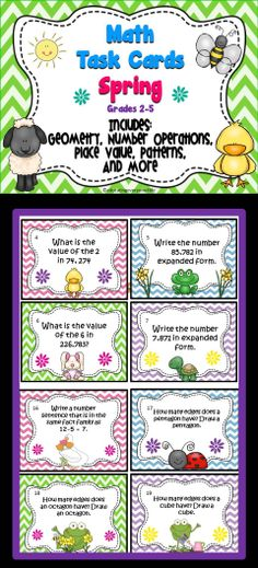 Math Task Cards: This is a great item for math centers. #Math #classroom #stations #printable