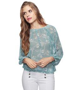 Bow Pattern Blouse - StyleSays