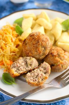 Minced pork chops from the oven Pork Chops, Salmon Burgers, Oven, Food And Drink, Polish, Meatball, Chicken, Ethnic Recipes, Foods