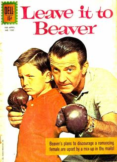 Leave It to Beaver, classic TV show Dell Comics Book vintage 1961 Vintage Comic Books, Vintage Comics, Vintage Tv, Vintage Stuff, Leave It To Beaver, Comic Book Publishers, Vintage Television, Tv Westerns, Old Tv Shows