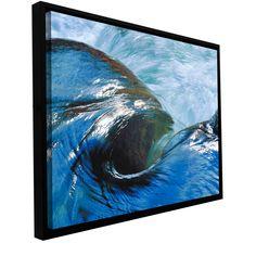 ArtWall Dean Uhlinger 'Kern River Flow' Floater Framed Gallery-wrapped Canvas