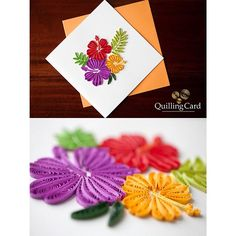 """201 Likes, 11 Comments - Quilling Card (@quillingcard) on Instagram: """"Wishing we were in Hawaii with the real thing  #quillingcard #quilling #quill #paper #art #design…"""""""