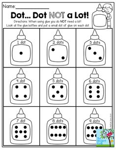 Dot…Dot NOT a LOT!  Helping kids control those GLUE DOTS and build fine motor skills!  TONS of hands-on activities for BACK TO SCHOOL!