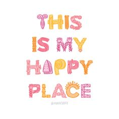 This is my happy place by Maker Valley - sewing room art Sewing Art, Sewing Rooms, Typography Letters, Lettering, Relationship Therapy, Room Art, Happy Thoughts, My Happy Place, Quilt Patterns