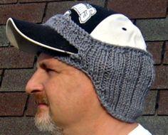 Sweet idea to keep your ears warm and still wear a ball cap :0), #free #crochet #pattern <3ceruleana<3