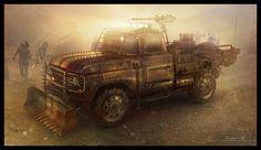 ArtStation - Zombie apocalypse truck concept, Encho Enchev