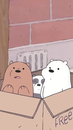 *We Bare Bears *적용화면 – Anime Wallpaper
