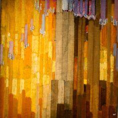 Kupka - ordinannance sur vetricales en jaune 1913