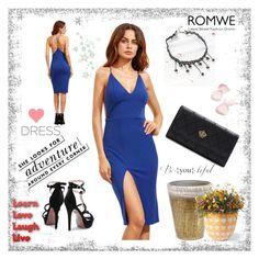 """ROMWE 7/VII"" by samra-dzabija ❤ liked on Polyvore featuring Serax, Grandin Road and Kate Spade"