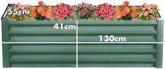 H13055R Rectangular Hexies Raised Garden Bed  Size: 130cm WIDTH x 55cm DEPTH x 41cm HEIGHT  Colour: Wilderness  Shape: Rectangle