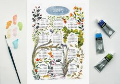 Calendrier Art print 2015 calendrier 2015 par SoniaCavallini
