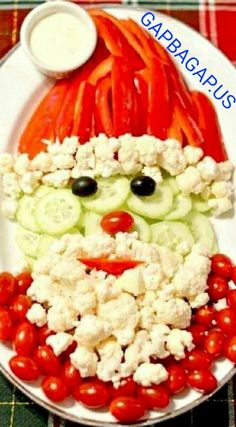 How To Make Santa With Vegetables This #Christmas