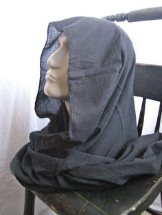 Black Gauze post apocalyptic fallout lightweight survival hood