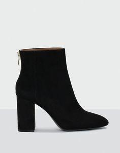 Pull&Bear - femme - nouveautés - chaussures - bottine à talon soirée - noir - 15295111-I2016