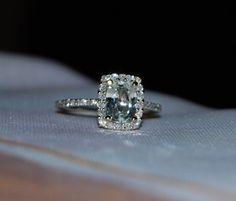 White sapphire engagement ring omg. Love