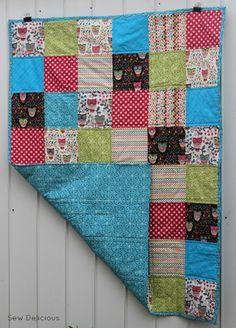 Kids woodland quilt