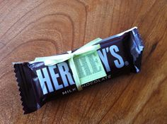 """""""Here he is""""!...baby shower Hershey bars for my sis' shower<3"""