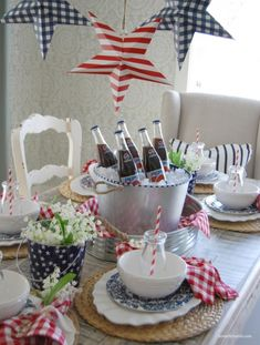 Home by Heidi 4th of July table