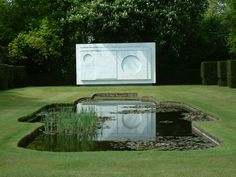 Sutton Place in Surrey. This very special garden was designed by Geoffrey Jellicoe, with sculpture by Ben-Nicholson