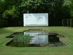 Sutton Place in Surrey. This very special garden was designed by Geoffrey Jellicoe, with sculpture by Ben-Nicholson
