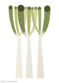 Welsh onion, by Ryo Takemasa