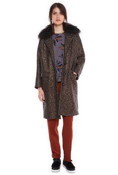 Mazanfur coat - Coats & Jackets - Women - Essentiel Antwerp online store