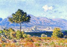 View of Antibes from the Plateau Notre-Dame, 1888 Claude Monet