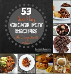 53 Quick and Easy Crock Pot Recipes -has recipe for apple cinnamon rolls