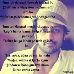 Darsal Lyrics From Raabta By Atif Aslam -