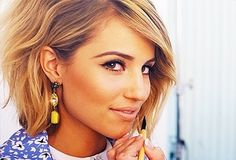 Dianna Agron Blonde Ombre Bob