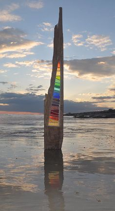 Louise V Durham / Stained Glass Sculptures / Stripes