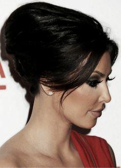 Kim kardashian updo hairstyle red carpet pinterest updo bodas especial invitadas kim kardashian hairstyles pmusecretfo Images